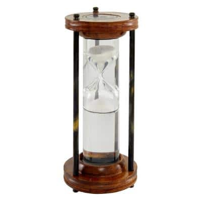 8 in. Brown Mango Wood Traditional Timer