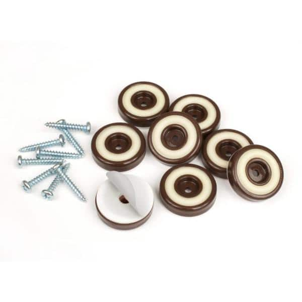 Slipstick 1 4 In Round Chocolate, Rubber Feet For Furniture Home Depot