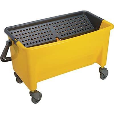 18 Gal. Microfiber Mop Bucket, Yellow