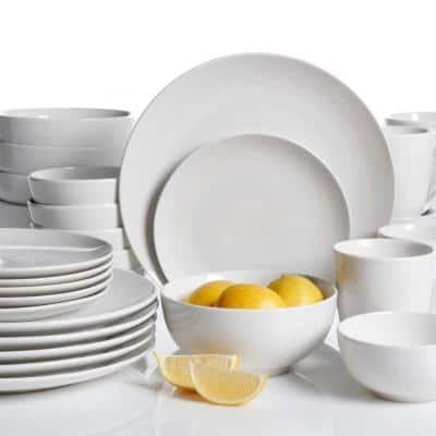 Ogalla 30-Piece Casual White Porcelain Dinnerware Set (Service for 6)