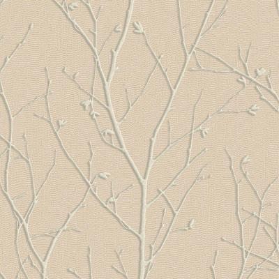 Water Silk Sprig Rose Gold Wallpaper Sample