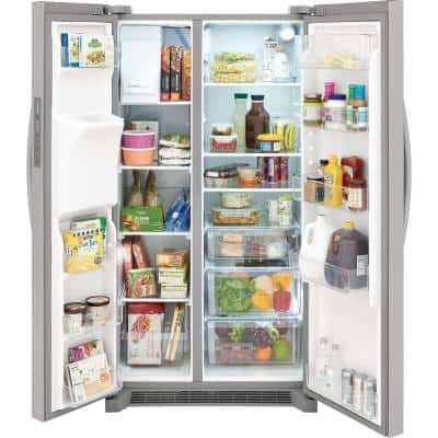 36 in. 22.3 cu. ft. Counter Depth Side by Side Refrigerator in Stainless Steel