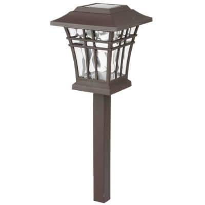 8 Lumens Solar Bronze LED Landscape Pathway Light