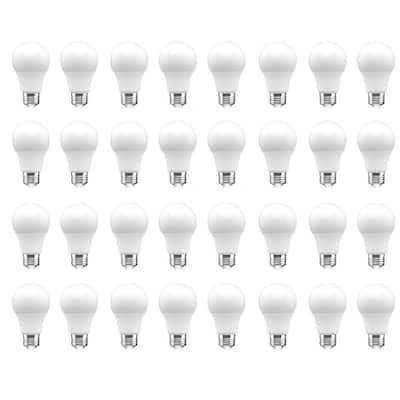 60-Watt Equivalent A19 Dimmable LED Light Bulb Daylight (32-Pack)