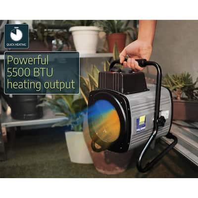 1500-Watt Portable Splash Resistant Fan Heater with Digital Thermostat and Humidity Sensor Greenhouse