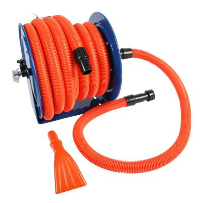 Industrial Hose Reel and 50 ft. Hose with Adapters for Wet/Dry Vacuums
