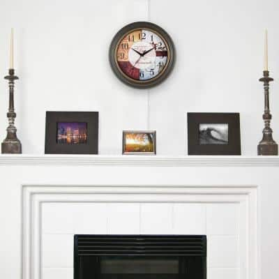 11.25 in. Brown Quartz Analog Wall Clock with Inspirational Quote