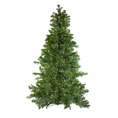 7.5 ft. Layered Pine Instant Power Artificial Christmas Tree with Dual Color LED Lights