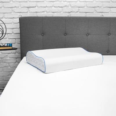 Cool Coat Gel Memory Foam Jumbo Contour Performance Pillow