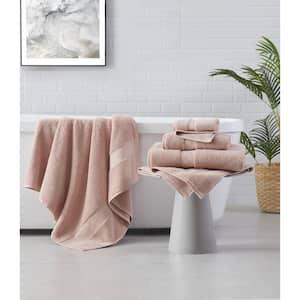 Solid Turkish Cotton 6-Piece Towel Set in Blush