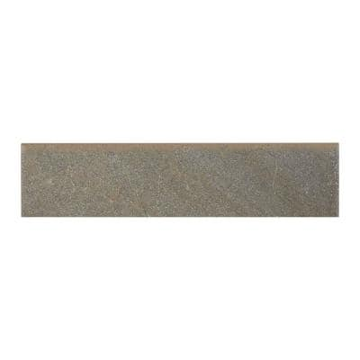 Ayers Rock Rustic Remnant 3 in. x 13 in. Glazed Porcelain Bullnose Floor and Wall Tile (0.32 sq. ft. / piece)