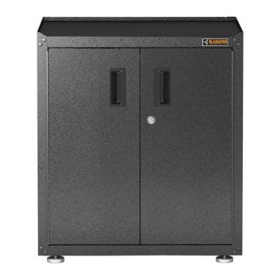 Ready-to-Assemble Steel Freestanding Garage Cabinet in Black/Granite (28 in. W x 31 in. H x 18 in. D)