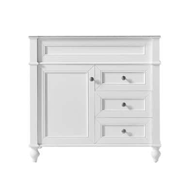 Margaux 36 in. W x 22 in. D x 34.2 in. H Bath Vanity Cabinet Only in White