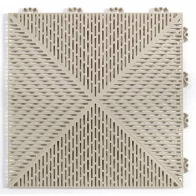Unique 14.9 in. x 14.9 in. Sand Polypropylene Garage Floor Tile (54 sq. ft. / case)