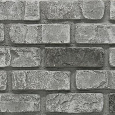 Used Brick 11 in. x 11 in. Cape Cod Faux Brick Siding Sample