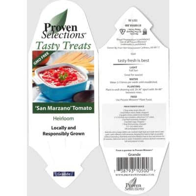 4.25 in. Grande Proven Selections San Marzano (Heirloom Tomato) Live Vegetable Plant, 4-Pack