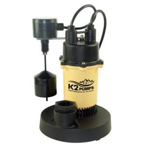 1/2 HP Aluminum Sump Pump with Direct-In Vertical Switch