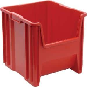 Heavy-Duty Giant Stack 16-Gal. Storage Tote in Red (2-Pack)