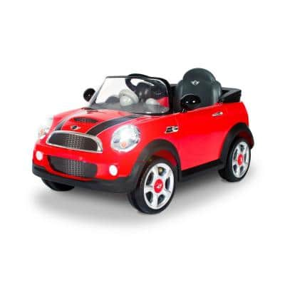 6-Volt Mini Cooper Battery Ride-On Vehicle in Red