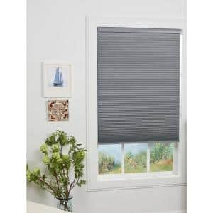 Perfect Lift Window Treatment Cut To Width Sterling Gray 1 5in Cordless Blackout Top Down Bottom Up Cellular Shade 65in W X 64in L Qflg650640 The Home Depot