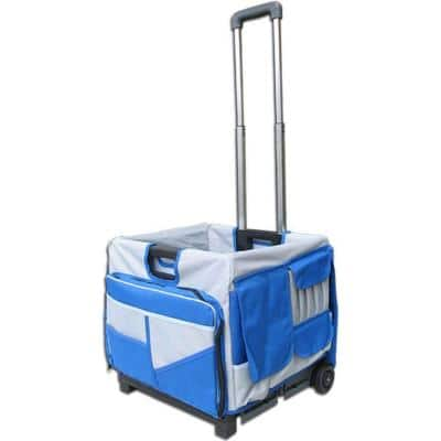 Pack-N-Roll 18 in. 0-Drawer Foldable Utility Cart 48-Pocket