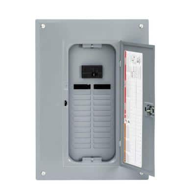 QO 100 Amp 24-Space 34-Circuit Indoor Main Breaker Plug-On Neutral Load Center with Cover