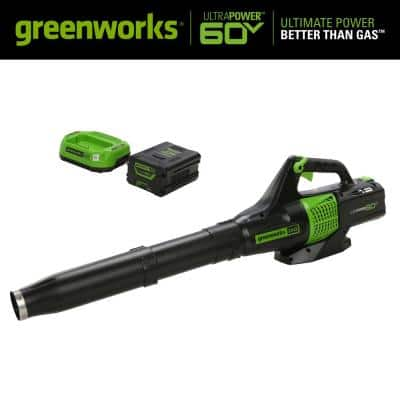 PRO 125 MPH 450 CFM 60V Battery Cordless Handheld Leaf Blower with 2.0 Ah Battery and Charger