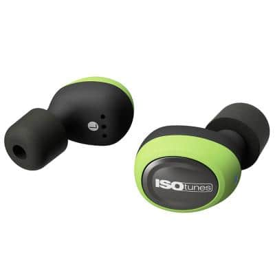 FREE Bluetooth Hearing Protection Earbuds, 22 dB Noise Reduction Rating, OSHA Compliant Ear Protection (Green)