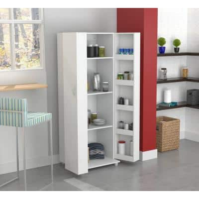 Wood Freestanding Garage Cabinet in Washed Oak (24 in. W x 66 in. H x 20 in. D)