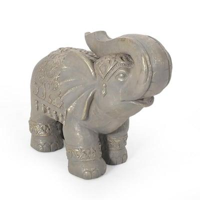 Dimmock 21.5 in. Outdoor Elephant Garden Statue