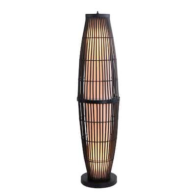 Biscayne 51 in. Rattan Outdoor Floor Lamp