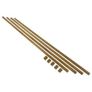 10 ft. Cable Trunking Kit with Adhesive, Brown