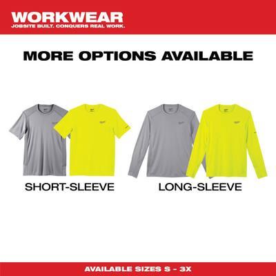 Gen II Men's Work Skin Medium Hi-Vis Light Weight Performance Long-Sleeve T-Shirt