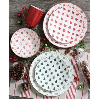 Pine Valley Red Dessert Plate (Set of 4)