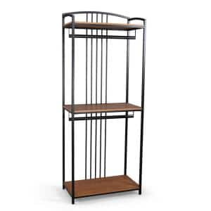 Modern Craftsman 36 in. Oak Wood Wall Closet System