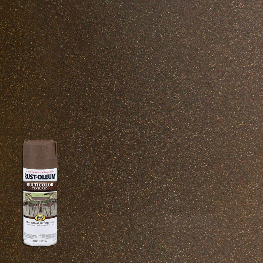 Rust-Oleum Stops Rust 12 oz. Multi Color Textured Autumn Brown Protective Spray Paint