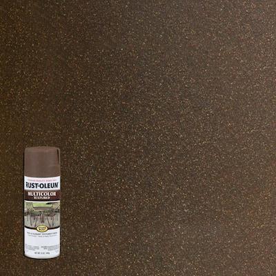 12 oz. Multi Color Textured Autumn Brown Protective Spray Paint