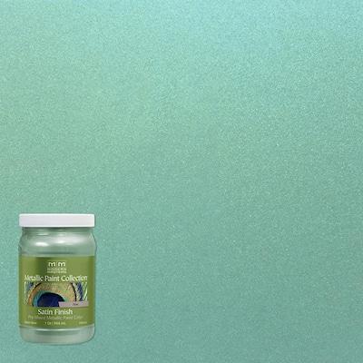 1 qt. Teal Water-Based Satin Metallic Interior Paint