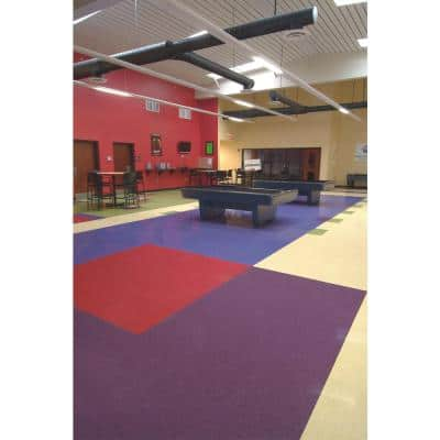 Imperial Texture VCT 12 in. x 12 in. Tyrian Purple Standard Excelon Commercial Vinyl Tile (45 sq. ft. / case)