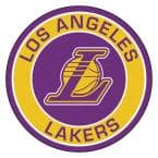 NBA Los Angeles Lakers Gold 2 ft. x 2 ft. Round Area Rug