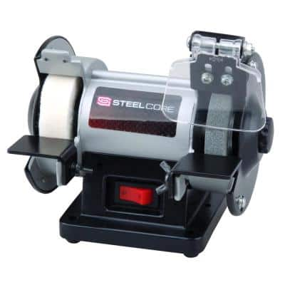 3 in. Mini Multi-Purpose Bench Grinder and Polisher with Buffing Wheel