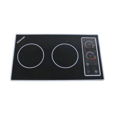 21 in. Smooth Top Induction Built-In Cooktop in Black with 2-Elements Including Mat