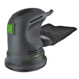 5 in. Random Orbit Sander with Rubberized Palm Grip, Hook-and-Loop System, Dust Bag and Sanding Disc Assortment