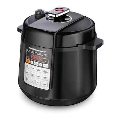 Multi-Function 6 Qt. Black Electric Pressure Cooker