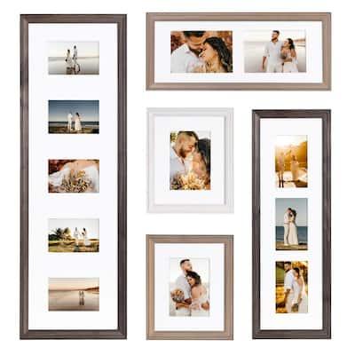 Bordeaux Gray Picture Frame (Set of 5)