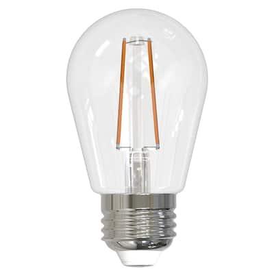 11-Watt Equivalent S14 Clear Dimmable Edison LED Light Bulb Warm White (4-Pack)