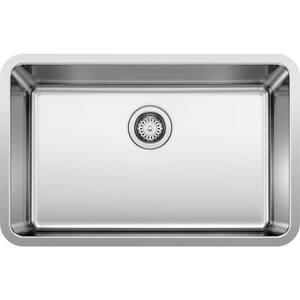 FORMERA Undermount Stainless Steel 28 in. Single Bowl Kitchen Sink