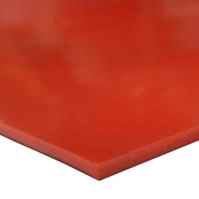 Silicone 1/16 in. x 36 in. x 12 in. Red/Orange Commercial Grade 60A Rubber Sheet