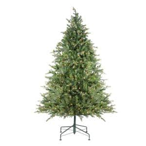 7.5 ft. Pre-Lit Hunter Fir Full Artificial Christmas Tree with Clear Lights