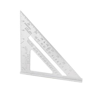 7 in. Aluminum Speed Square High Precision Layout Tool